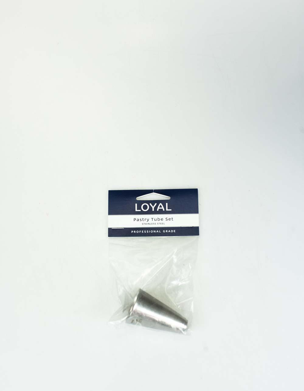 Loyal Professional Grade Stainless Steel Plain Piping Tubes - Set of 8
