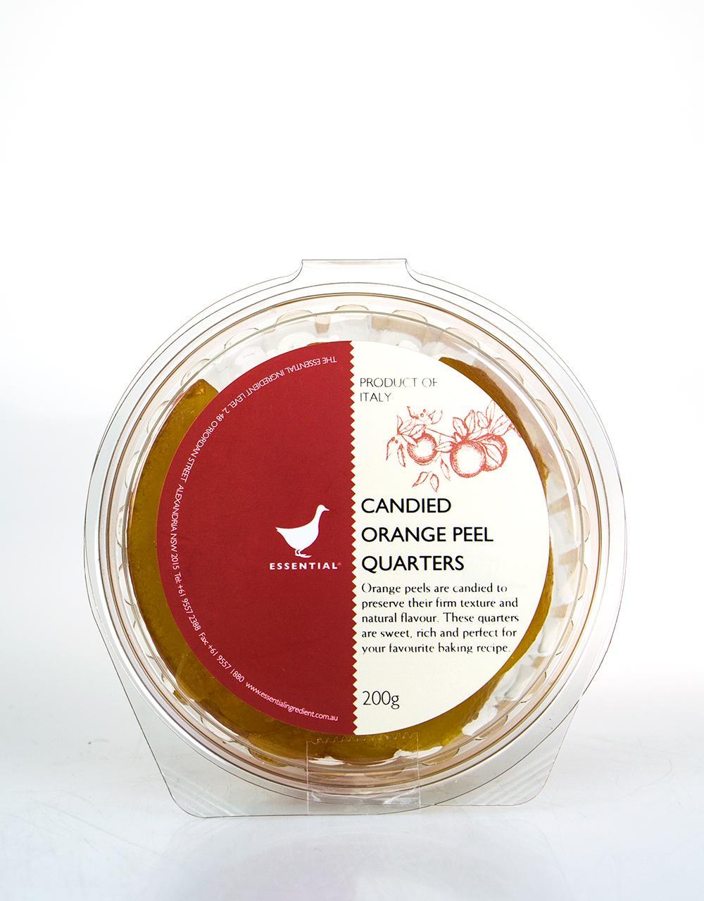 Candied Orange Peel Quarters The Essential Ingredient 200g