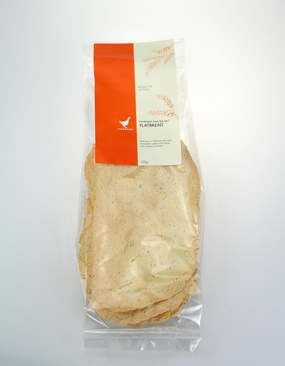 The Essential Ingredient Flatbread with Rosemary and Sea Salt 100g
