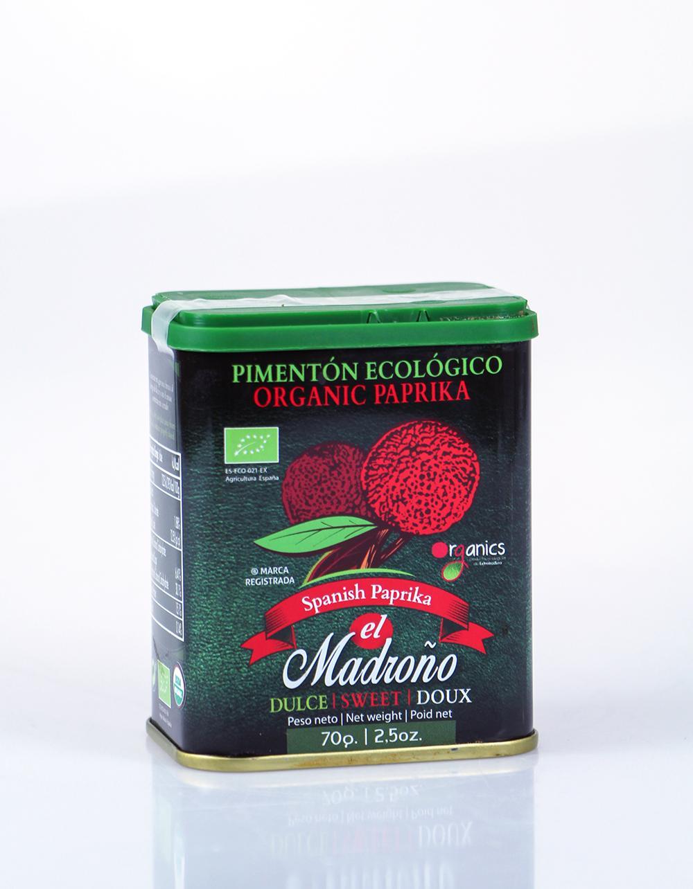 El Madrono Organic Sweet Paprika 70g