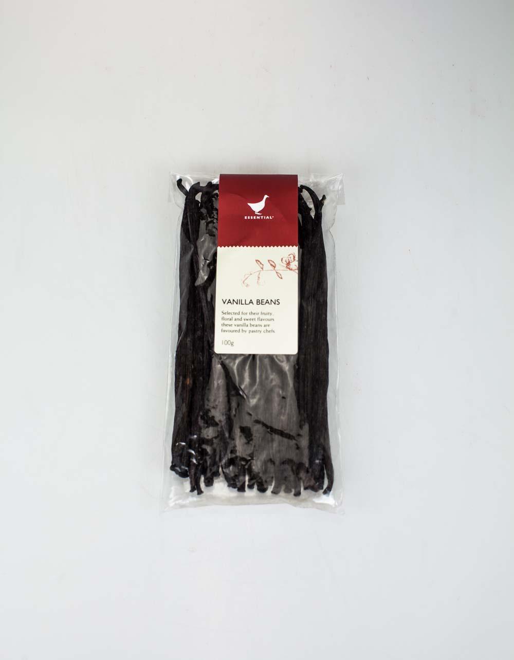 The Essential Ingredient Vanilla Beans 100g