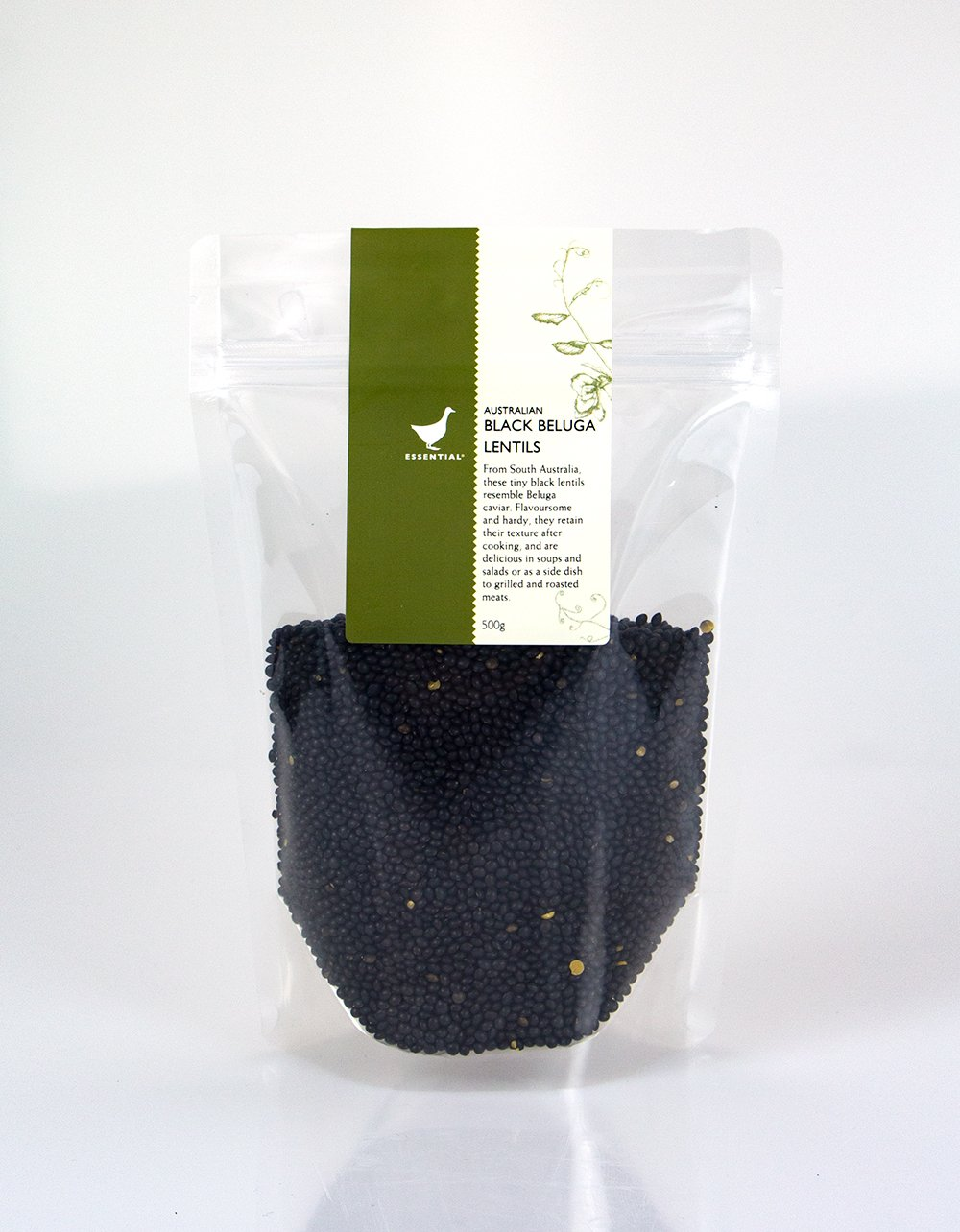 The Essential Ingredient Black Beluga Lentils 500g