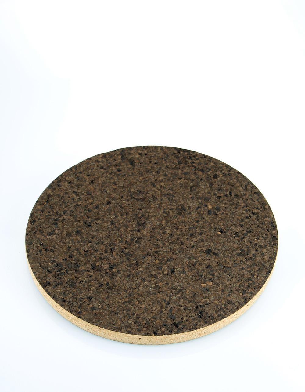The Essential Ingredient Round Cork Mat 'Burnt' 25cm x 2cm