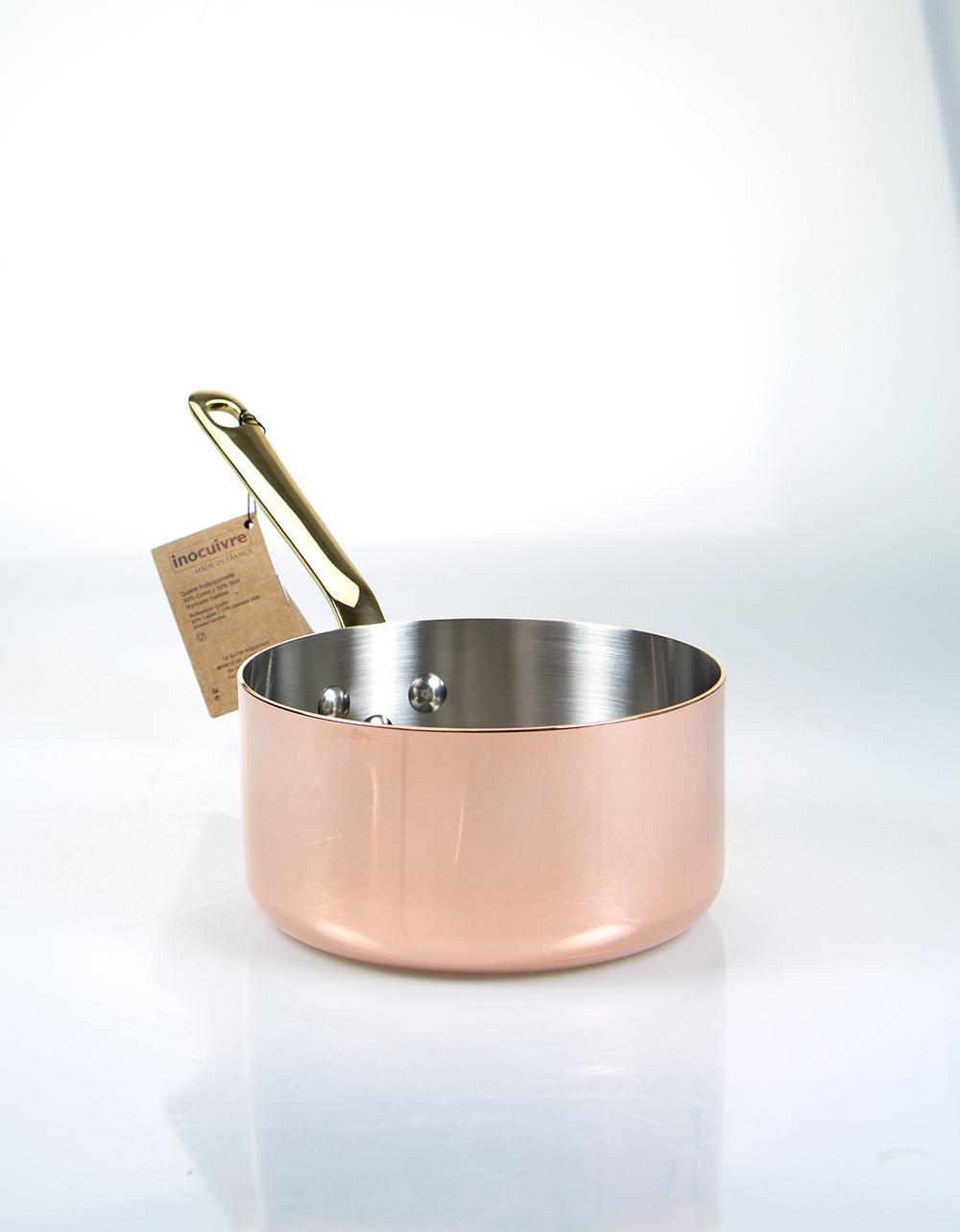 De Buyer Copper Saucepan with Brass Handle 14cm
