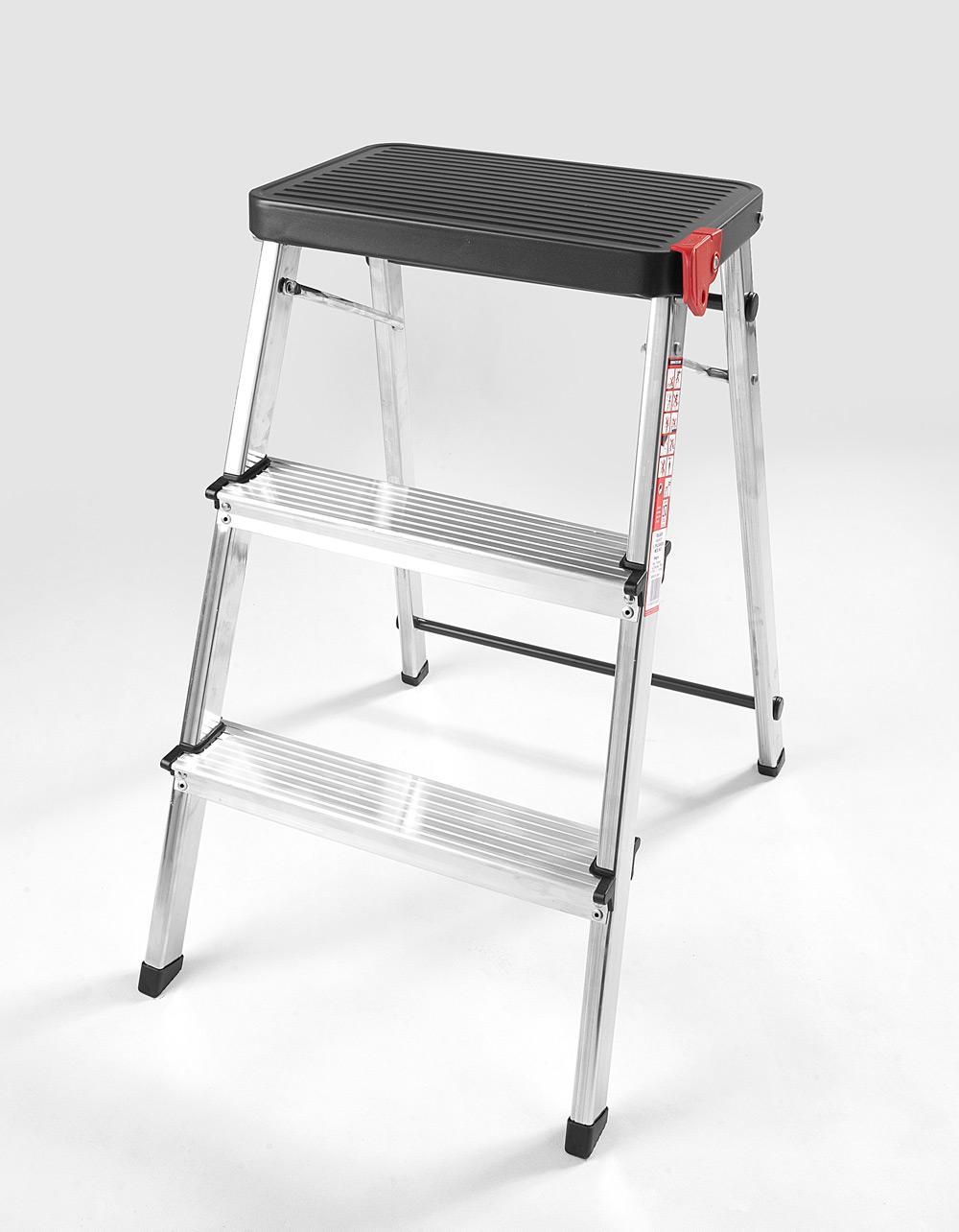 Rolser Ladder/Stool - 3 Step Black