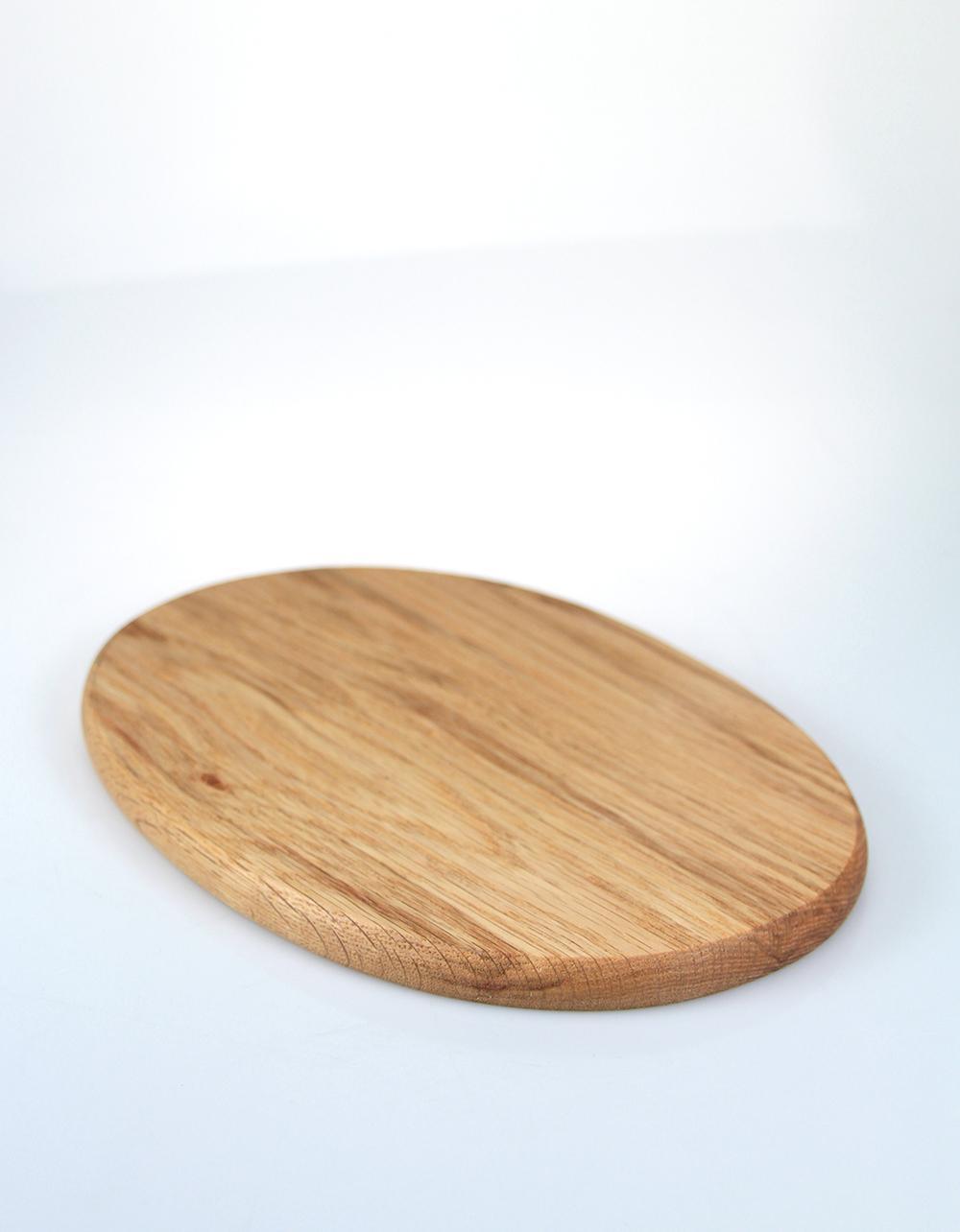 The Essential Ingredient German Oak Oval Chopping Board 25.5cm x 17cm