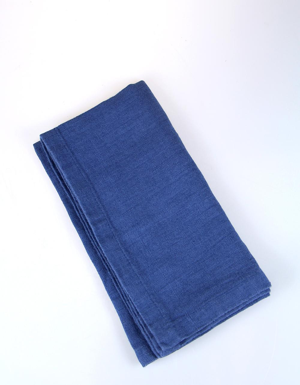 The Essential Ingredient Pure Linen Napkin - Blue 45cm x 45cm