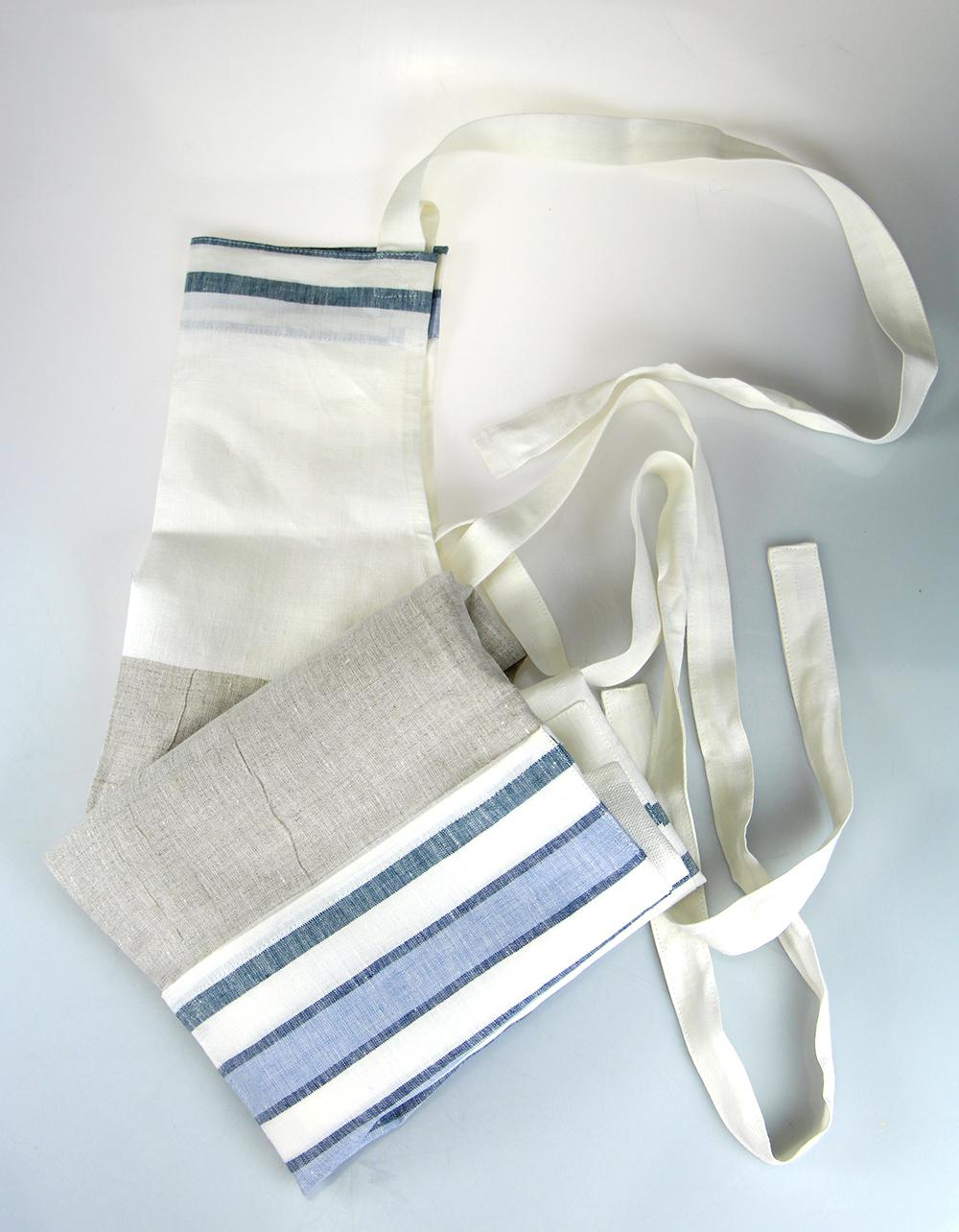 The Essential Ingredient Pure Linen Striped Apron