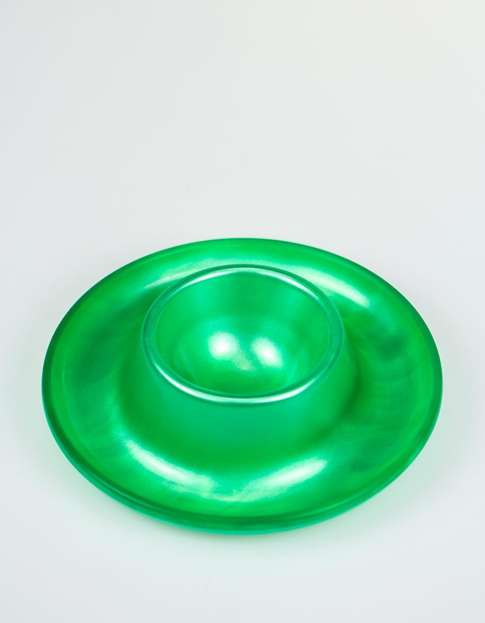 Egg Cup Acrylic Glass  - Green 10cm