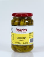 Delicias Guindilla Green Chilli Peppers in Vinegar 280g