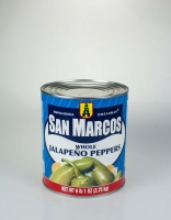 San Marcos Whole Pickled Jalapeno Peppers 2.7kg