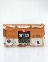Dongwon Roasted Seaweed with Sesame Oil Pack of 9