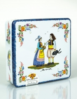 Assorted Butter Biscuits La Trinitaine Large Faience Tin 600g