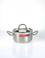 Silampos Stainless Steel 'Nautilus' Casserole Dish With Lid 14cm (1L)