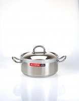Silampos Stainless Steel 'Nautilus' Casserole Dish With Lid 18cm (2L)