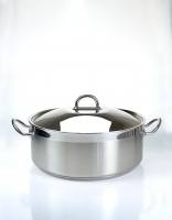 Silampos Stainless Steel 'Nautilus' Casserole Dish With Lid 28cm (6.5L)