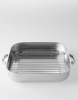 Silampos Stainless Steel 'Nautilus' Roasting Dish with grill 27cm x 27cm