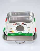 Steelpan Stainless Steel Roasting Pan with Handles 40cm x 28cm
