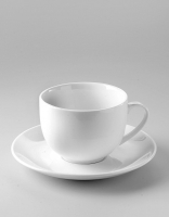 The Essential Ingredient White China Teacup & Saucer 200ml