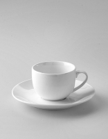 The Essential Ingredient White China Espresso Cup & Saucer