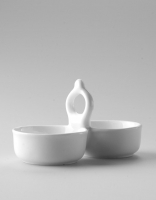 The Essential Ingredient White China Salt & Pepper Tray