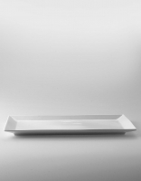 The Essential Ingredient White China Rectangular Plate 15.5cm x 33.5cm