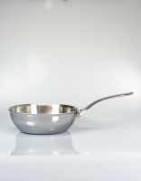 De Buyer Affinity Stainless Steel Conical Saute Pan 24cm
