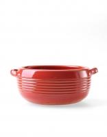 Graupera Flambe Dish 'Wavy' - Red 13cm