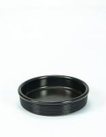 Graupera Tapas Dish 'Wavy' - Charcoal 14cm