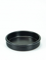 Graupera Tapas Dish 'Wavy' - Charcoal 15cm