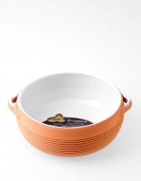 Graupera Deep Flambe Dish 'Wavy' Cream/Honey 17cm x 7.5cm