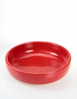 Graupera Flat Salad Bowl 26cm x 7cm - Red