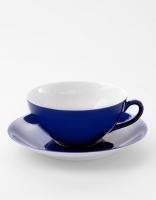 Vista Alegre Tea Cup & Saucer - Dark Blue
