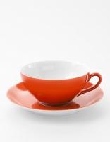 Vista Alegre Tea Cup & Saucer - Orange