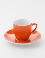 Vista Alegre Coffee Cup & Saucer - Orange
