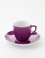Vista Alegre Coffee Cup & Saucer - Purple