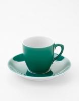 Vista Alegre Coffee Cup & Saucer - Dark Green