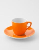 Vista Alegre Coffee Cup & Saucer - Light Orange