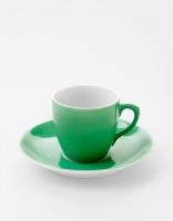 Vista Alegre Coffee Cup & Saucer - Light Green
