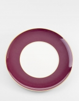 Vista Alegre Rocco Charger Plate - Bordeaux and Gold 33cm