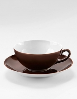 Vista Alegre Tea Cup & Saucer - Brown