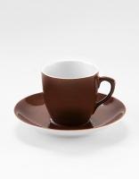 Vista Alegre Coffee Cup & Saucer - Brown