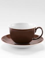 Vista Alegre Breakfast Cup & Saucer - Brown
