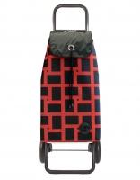Rolser 'Imax' Trolley - 'Geometrik' design Red