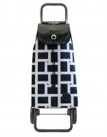 Rolser 'Imax' Trolley - 'Geometrik' design White