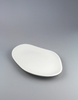 Pordamsa White Oval Wave Plate 18cm