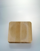 The Essential Ingredient Wooden Chopping Board for Mezzaluna 20cm x 20cm