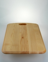 The Essential Ingredient Wooden Chopping Board with Rounded End 52cm x 38cm x 4c