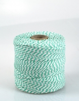 The Essential Ingredient White & Green Cotton Twine 250m