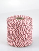 The Essential Ingredient White & Red Cotton Twine 250m